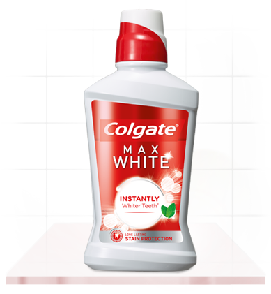 Colgate Max White Mouthwash for Instantly Whiter Teeth